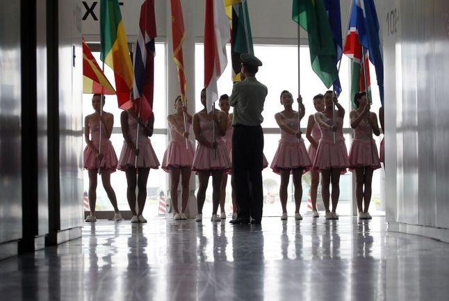 Репетиция церемонии открытия 14-го чемпионата мира по водным видам спорта. Фото REUTERS