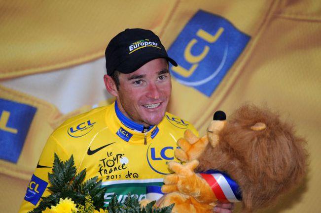 """Лидер общего зачета """"Тур де Франс""""-2011 Томас ВОКЛЕР. Фото AFP"""