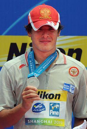 Сегодня. Шанхай. Россиянин Владимир ДЯТЧИН - вице-чемпион мира в марафонском плавании. Фото AFP