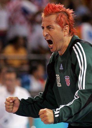 29 августа 2004 года. Афины. Олимпийский финал. Хорватия - Германия - 26:24. Вратарь сборной Хорватии Владо ШОЛА. Фото REUTERS