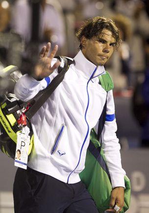 Среда. Монреаль. Рафаэль НАДАЛЬ покидает Rogers Cup после поражения от Ивана Додига. Фото REUTERS