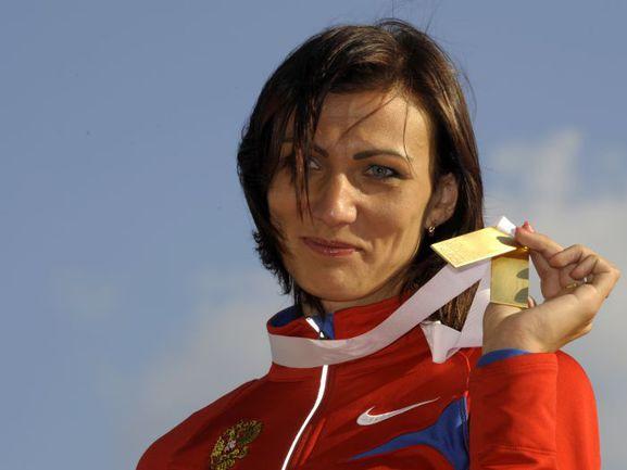Призер Олимпийских игр в Афинах Наталья АНТЮХ. Фото AFP