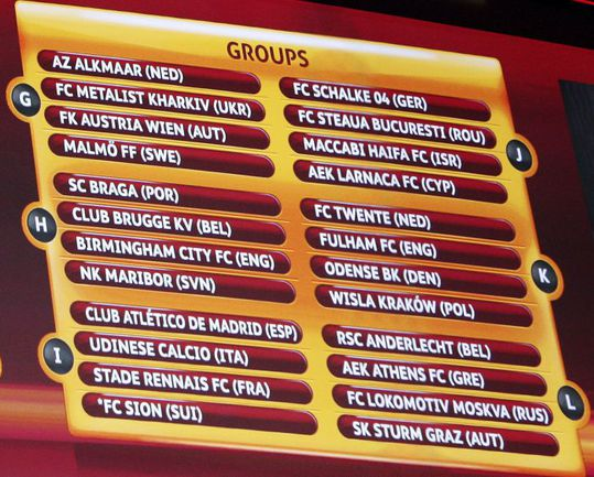 Вчера. Монако. Жеребьевка группового раунда Лиги Европы. Фото AFP