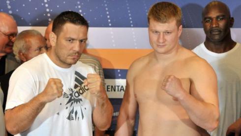 Поветкин и Чагаев поделили 210 кг поровну