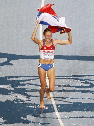 Вчера. Тэгу. Юлия ЗАРИПОВА стала чемпионкой мира в стипль-чезе. Фото REUTERS