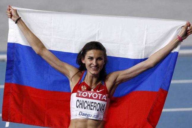 Суббота. Тэгу. Анна ЧИЧЕРОВА - новая чемпионка мира! Фото REUTERS