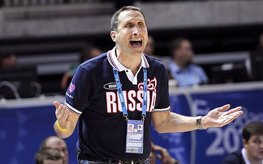 """Понедельник. Клайпеда. Словения - Россия - 64:65. Дэвид БЛАТТ. Фото FIBA-Europe Фото """"СЭ"""""""
