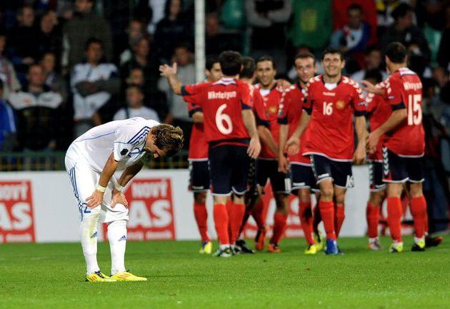 Вторник. Жилина. Словакия - Армения - 0:4. Радость армянской сборной. Фото AFP