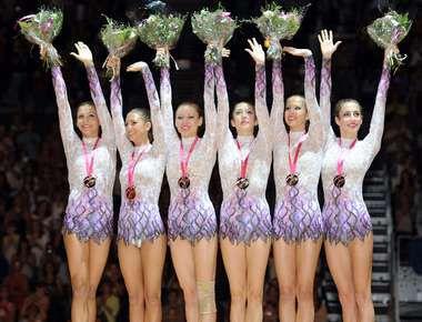 Воскресенье. Монпелье. Сборная России - чемпион мира в командных упражнениях. Фото AFP