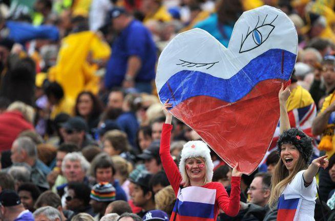 Суббота. Нельсон. Австралия - Россия - 68:22. Новозеландские болельщики сборной России. Фото AFP