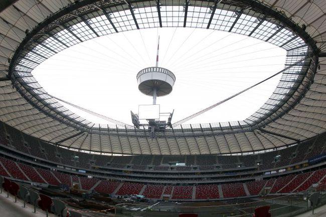 Национальный стадион в Варшаве, на котором сборная России проведет матчи с Польшей и Грецией. Фото REUTERS