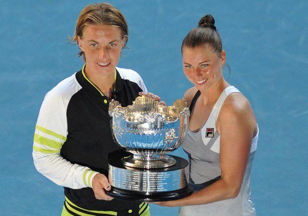 Сегодня. Мельбурн. Светлана КУЗНЕЦОВА и Вера ЗВОНАРЕВА - чемпионки Australian Open в парном разряде! Фото AFP