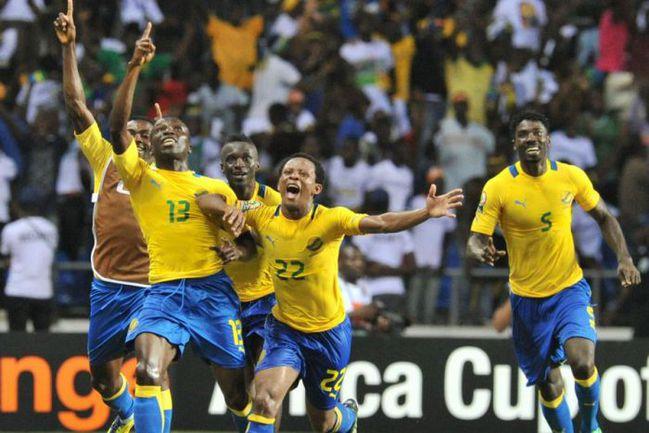 Пятница. Либревиль. Габон - Марокко - 3:2. 90+7 минута. Только что футболисты Габона вырвали победу. Фото AFP