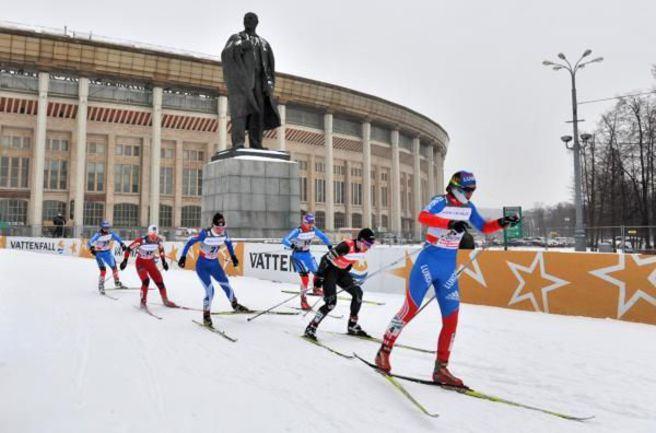 """Вчера. Лужники. На дистанции элита мирового спринта. Фото Алексея ИВАНОВА, """"СЭ"""". Фото """"СЭ"""""""