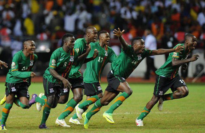 Воскресенье. Либревиль. Замбия - Кот-д'Ивуар - 0:0, пенальти - 8:7. Сборная Замбии - чемпион Африки! Фото AFP