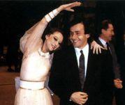 Конец 80-х. Майя ПЛИСЕЦКАЯ и Мишель ПЛАТИНИ. Фото из личного архива Майи Плисецкой.