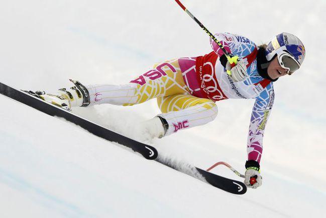 Пятница. Сочи. Американская горнолыжница Линдси ВОНН. Фото REUTERS