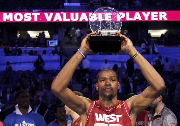 "26 февраля. Орландо. ""Восток"" - ""Запад"" - 149:152. MVP Матча звезд НБА Кевин ДЮРАНТ. Фото REUTERS"