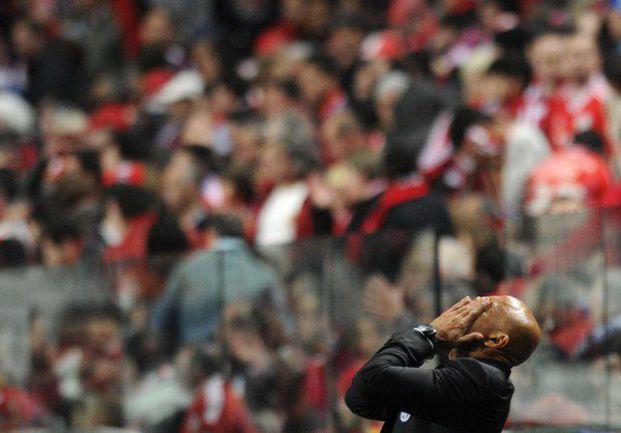 """Вчера. Лиссабон. """"Бенфика"""" - """"Зенит"""" - 2:0. Разочарование Лучано СПАЛЛЕТТИ. Фото AFP"""