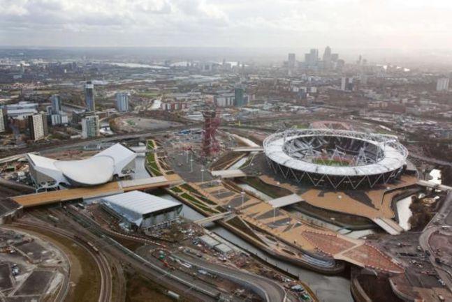 Так выглядит лондонский Олимпийский парк с высоты птичьего полета. Фото AFP