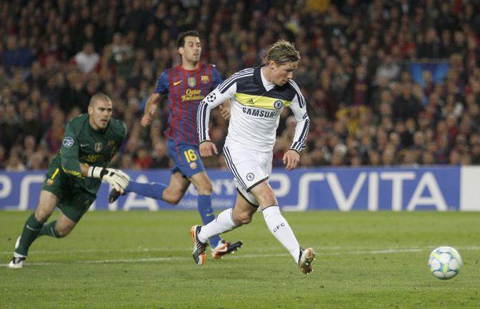 """Вторник. Барселона. """"Барселона"""" - """"Челси"""" - 2:2. 90+1-я минута. Фернандо ТОРРЕС ставит точку в противостоянии. Фото REUTERS"""