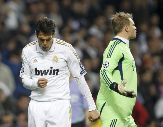"Среда. Мадрид. ""Реал"" - ""Бавария"" - 2:1, пен. - 1:3. КАКА и Мануэль НОЙЕР. Фото ""СЭ"""