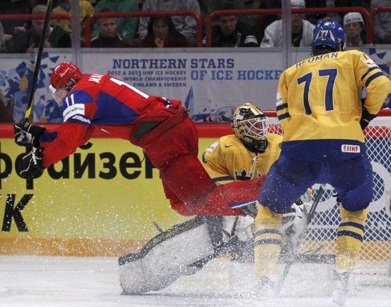 Вчера. Стокгольм. Россия - Швеция - 7:3. Евгений МАЛКИН против шведов: 5 очков! Фото REUTERS