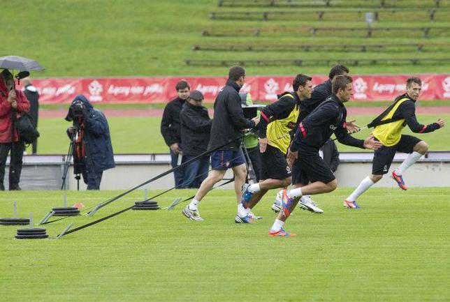 21 мая. Лиенц. Тренировка сборной Польши. Фото AFP