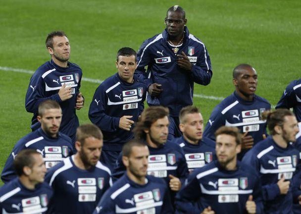 Вторник. Краков. Тренировка сборной Италии. Фото AFP
