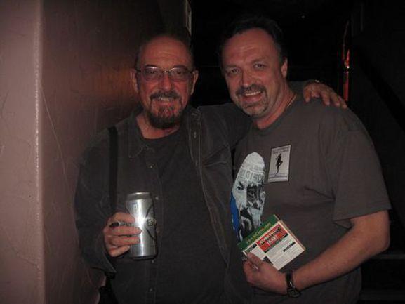 """Автор с лидером рок-группы Jethro Tull Ианом АНДЕРСОНОМ. Фото """"СЭ"""""""