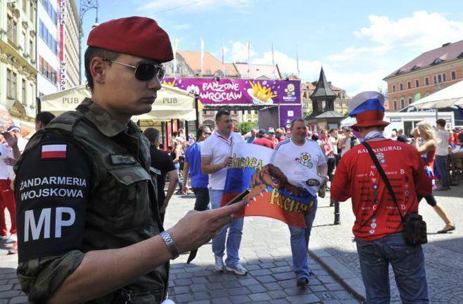 """На улицах Вроцлава во время Euro-2012 охрану порядка обеспечивают свыше четырех тысяч человек. Фото Александра ФЕДОРОВА, """"СЭ"""". Фото """"СЭ"""""""