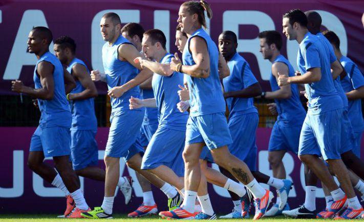 Вчера. Кирша. Тренировка сборной Франции. Фото AFP