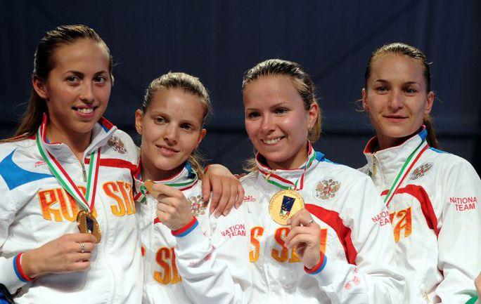 19 июня. Леньяно. Российские саблистки стали чемпионками Европы в командном первенстве. Фото AFP
