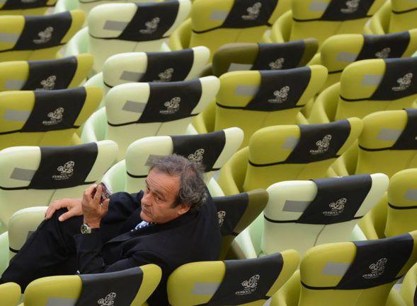 Президент УЕФА Мишель ПЛАТИНИ. . Фото AFP