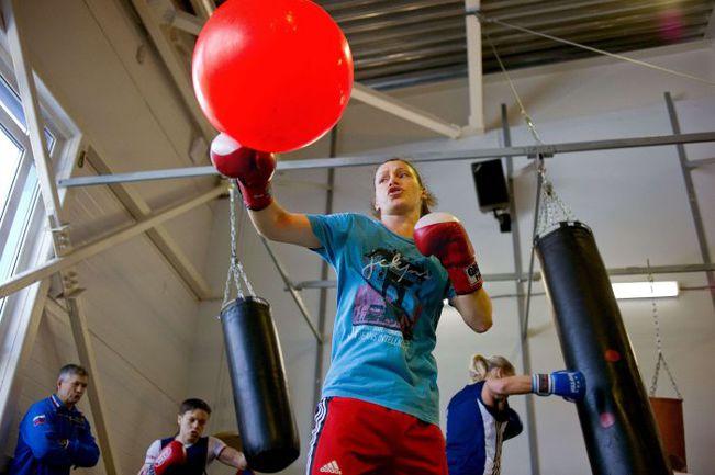 Софья ОЧИГАВА - одна из трех представительниц сборной России в трех весовых категориях олимпийской программы женского бокса. Фото AFP