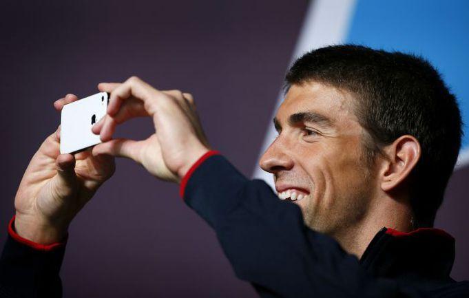Вчера. Лондон. Пресс-конференция 14-кратного олимпийского чемпиона Майкла ФЕЛПСА. Фото REUTERS