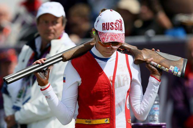 Воскресенье. Лондон. Марина БЕЛИКОВА после поражения в перестрелке за бронзу. Фото AFP