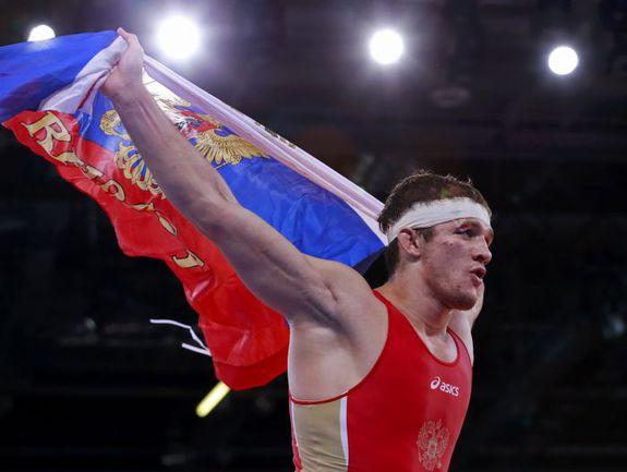 Алан ХУГАЕВ - чемпион Олимпиады в греко-римской борьбе в категории до 84 кг. Фото REUTERS