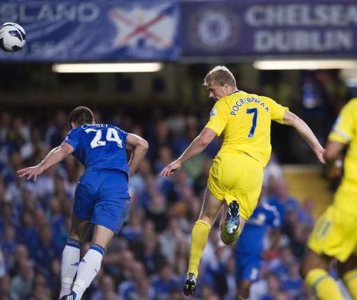 """Среда. Лондон. """"Челси"""" - """"Рединг"""" - 4:2. 25-я минута. Гол Павла ПОГРЕБНЯКА. Фото AFP"""