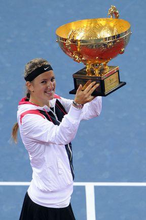 Вчера. Пекин. Победительница турнира China Open Виктория АЗАРЕНКО. Фото AFP