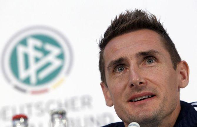 Нападающий сборной Германии Мирослав КЛОЗЕ. Фото REUTERS