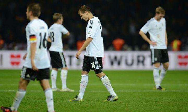 Вчера. Берлин. Германия - Швеция - 4:4. Только что немцы невероятным образом упустили победу. Фото AFP