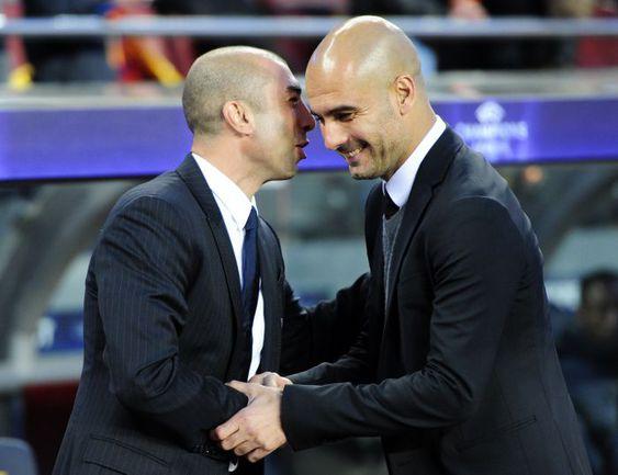 Станет ли Роберто ДИ МАТТЕО (слева) следующим после Хосепа ГВАРДЬОЛЫ лучшим тренером года по версии ФИФА? Фото AFP