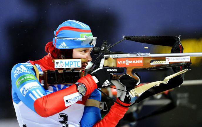Воскресенье. Эстерсунд. Ольга ВИЛУХИНА показала четвертый результат в гонке преследования. Фото AFP