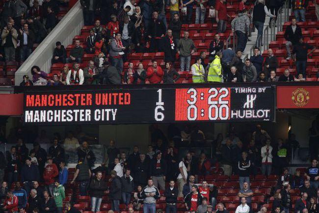 Манчестер юнайтед 1 6манчестер сити