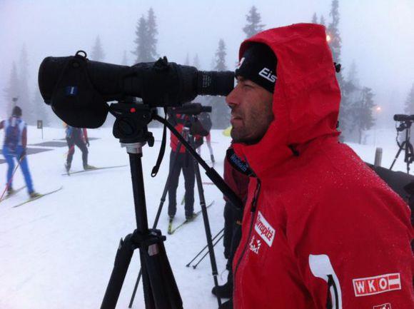 Декабрь. Хохфильцен. Ремо КРУГ на огневом рубеже. Фото ÖSV Biathlon. Фото «СЭ»