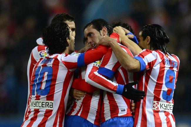 """Пятница. Мадрид. """"Атлетико"""" - """"Сельта"""" - 1:0. Только что мадридцы забили гол, который станет победным. Фото AFP"""