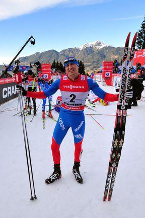 """Воскресенье. Валь-ди-Фьемме. Петтеру Нортугу опять не удалось выиграть """"Тур де Ски"""" в отличие от Александра ЛЕГКОВА. Фото AFP"""