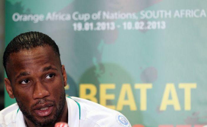 Нападающий сборной Кот-Д'Ивуара Дидье ДРОГБА. Фото AFP