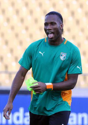 Дидье ДРОГБА: за сборную Кот-д'Ивуар выступает с 2002 года, провел 89 матчей, забил 56 голов. Фото AFP
